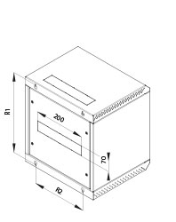 Wall-mounted cabinet RBA - 10