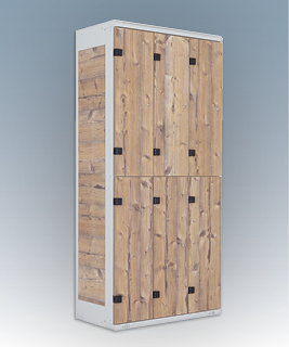 6-box clothes lockers