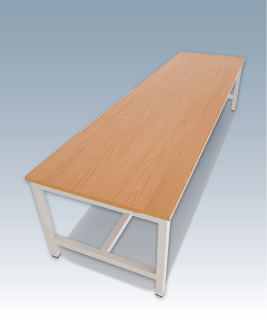 Wide cloakroom bench