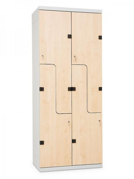 Z Type Clothes Lockers With Doors Of Z Letter Shape