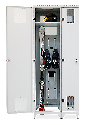 Ski and snowboard lockers